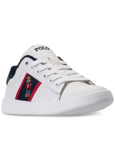 Ralph Lauren: Polo Polo Ralph Lauren Little Boys' Quilton Bear Casual Sneakers from Finish Line