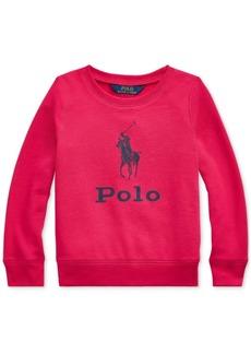 Ralph Lauren: Polo Polo Ralph Lauren Toddler Girls Atlantic Terry Logo Sweatshirt