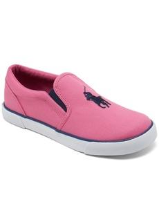 Ralph Lauren: Polo Polo Ralph Lauren Little Girls' Bal Harbor 3 Slip-On Casual Sneakers from Finish Line
