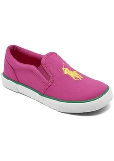 Ralph Lauren: Polo Polo Ralph Lauren Little Girls Bal Harbour Ii Slip-On Casual Sneakers from Finish Line