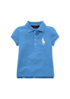 Ralph Lauren: Polo Polo Ralph Lauren Little Girls Big Pony Stretch Mesh Polo Shirt