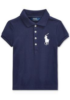 Ralph Lauren: Polo Polo Ralph Lauren Toddler Girls Big Pony Stretch Mesh Polo Shirt