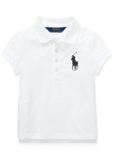 Ralph Lauren: Polo Polo Ralph Lauren Little Girls Big Pony Stretch Mesh Polo Shirt