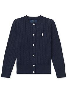 Ralph Lauren: Polo Polo Ralph Lauren Little Girls Cable-Knit Cotton Cardigan