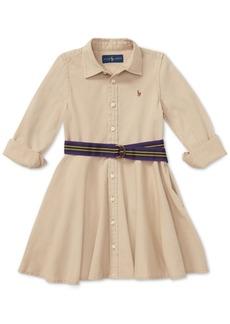 Ralph Lauren: Polo Polo Ralph Lauren Big Girls Cotton Chino Shirtdress