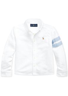 Ralph Lauren: Polo Polo Ralph Lauren Little Girls Classic Oxford Crop Shirt