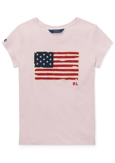 Ralph Lauren: Polo Polo Ralph Lauren Toddler Girls Cotton Jersey Patriotic T-Shirt