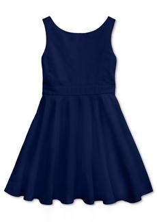 Ralph Lauren: Polo Polo Ralph Lauren Little Girls Crossback Stretch Dobby Dress