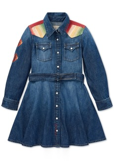 Ralph Lauren: Polo Polo Ralph Lauren Little Girls Denim Cotton Shirtdress