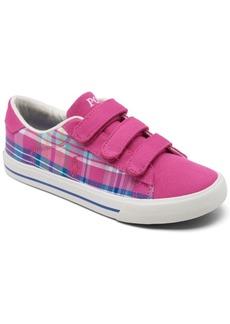 Ralph Lauren: Polo Polo Ralph Lauren Little Girls' Easten Ii Stay-Put Casual Sneakers from Finish Line