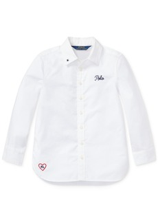 Ralph Lauren: Polo Polo Ralph Lauren Toddler Girls Embroidered Cotton Shirt
