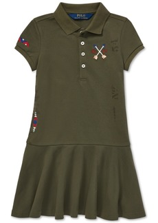 Ralph Lauren: Polo Polo Ralph Lauren Little Girls Embroidered Mesh Polo Dress