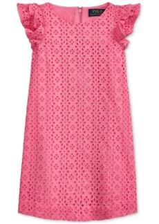 Ralph Lauren: Polo Polo Ralph Lauren Toddler Girls Eyelet-Embroidered Cotton Dress