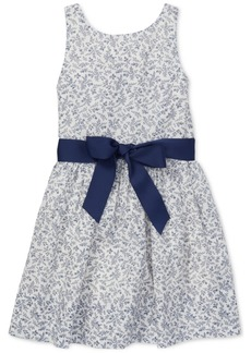 Ralph Lauren: Polo Polo Ralph Lauren Toddler Girls Floral-Print Fit & Flare Cotton Dress