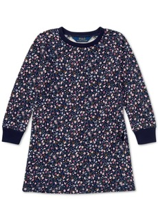 Ralph Lauren: Polo Polo Ralph Lauren Little Girls Floral-Print French Terry Cotton Dress