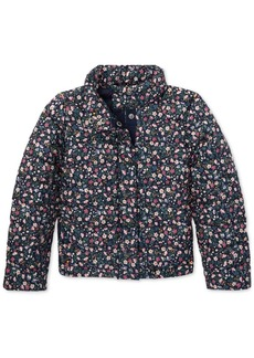 Ralph Lauren: Polo Polo Ralph Lauren Toddler Girls Floral Quilted Jacket