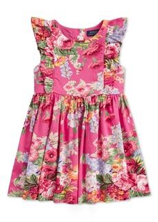 Ralph Lauren: Polo Polo Ralph Lauren Toddler Girls Floral Ruffled Cotton Dress