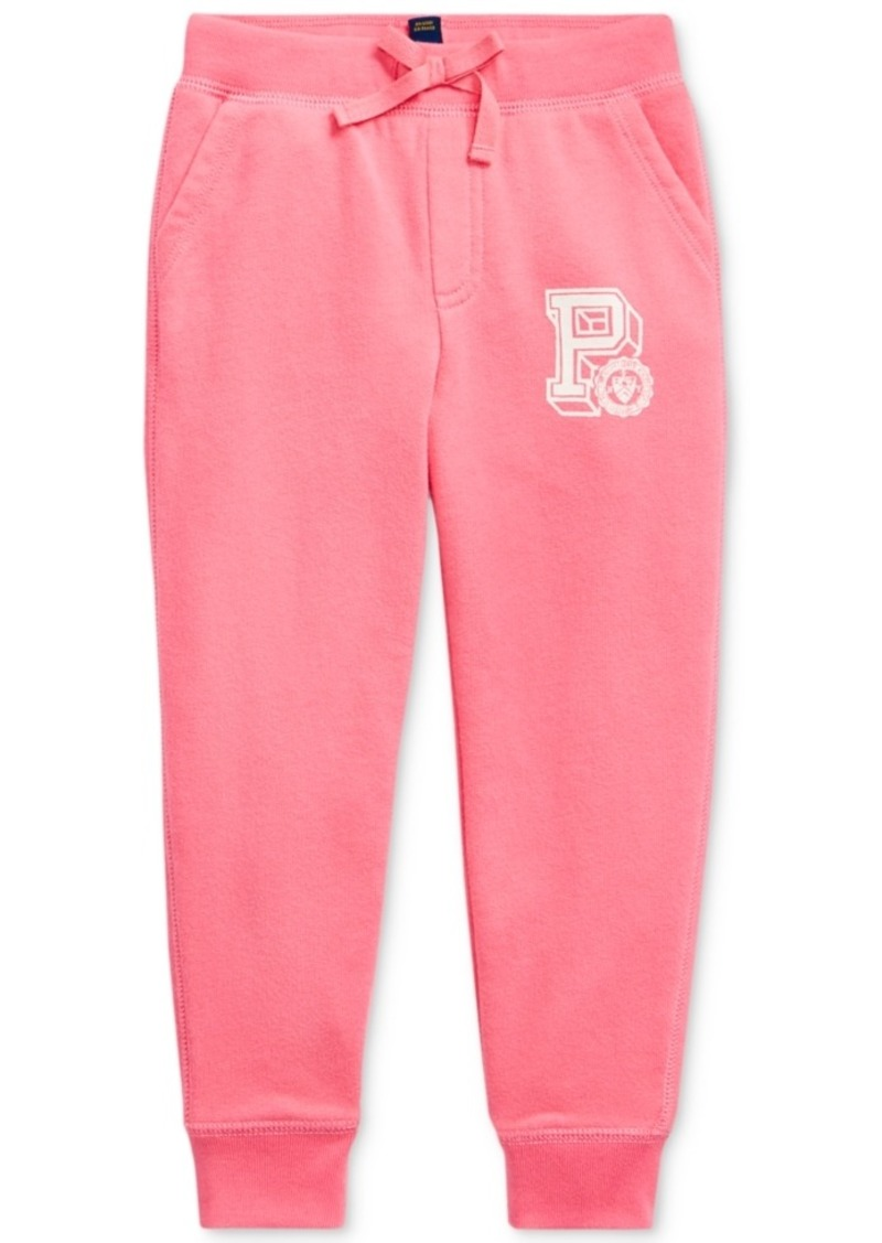 Ralph Lauren: Polo Polo Ralph Lauren Little Girls French Terry Graphic Joggers