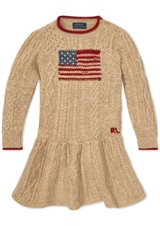 Ralph Lauren: Polo Polo Ralph Lauren Little Girls Graphic Cable-Knit Dress