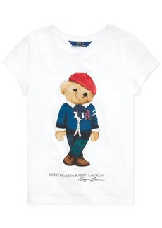 Ralph Lauren: Polo Polo Ralph Lauren Toddler Girls Jersey Cotton Bear T-Shirt