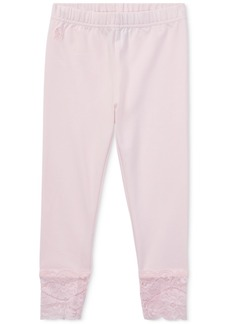 Ralph Lauren: Polo Polo Ralph Lauren Little Girls Lace-Cuff Jersey Leggings