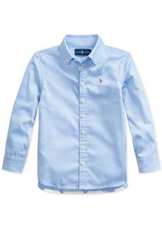 Ralph Lauren: Polo Polo Ralph Lauren Toddler Girls Pinpoint Oxford Shirt
