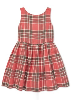 Ralph Lauren: Polo Polo Ralph Lauren Little Girls Plaid Cotton Fit & Flare Dress