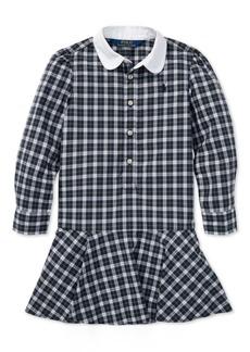 Ralph Lauren: Polo Polo Ralph Lauren Toddler Girls Plaid Cotton Poplin Shirtdress