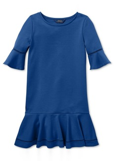 Ralph Lauren: Polo Polo Ralph Lauren Little Girls Ponte-Knit Inset-Lace Dress