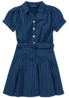Ralph Lauren: Polo Polo Ralph Lauren Little Girls Printed Cotton Poplin Dress