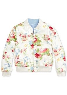 Ralph Lauren: Polo Polo Ralph Lauren Little Girls Reversible Oxford Jacket