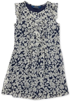 Ralph Lauren: Polo Polo Ralph Lauren Little Girls Ruffled Floral Chiffon Dress