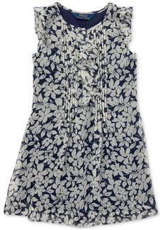 Ralph Lauren: Polo Polo Ralph Lauren Toddler Girls Ruffled Floral Chiffon Dress
