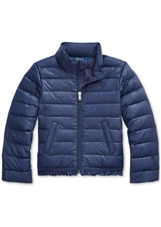 Ralph Lauren: Polo Polo Ralph Lauren Little Girls Ruffled Quilted Down Jacket, Created For Macy's