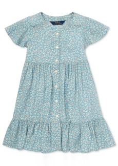 Ralph Lauren: Polo Polo Ralph Lauren Little Girls Shirred Floral-Print Dress