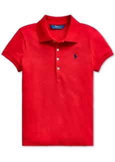 Ralph Lauren: Polo Polo Ralph Lauren Toddler Girls Stretch Pique Polo Shirt