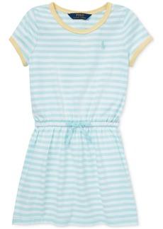 Ralph Lauren: Polo Polo Ralph Lauren Little Girls Striped Cotton Jersey T-Shirt Dress