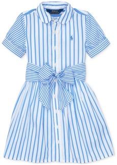 Ralph Lauren: Polo Polo Ralph Lauren Little Girls Striped Cotton Shirtdress