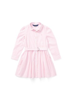 Ralph Lauren: Polo Polo Ralph Lauren Little Girls Striped Cotton Shirtdress
