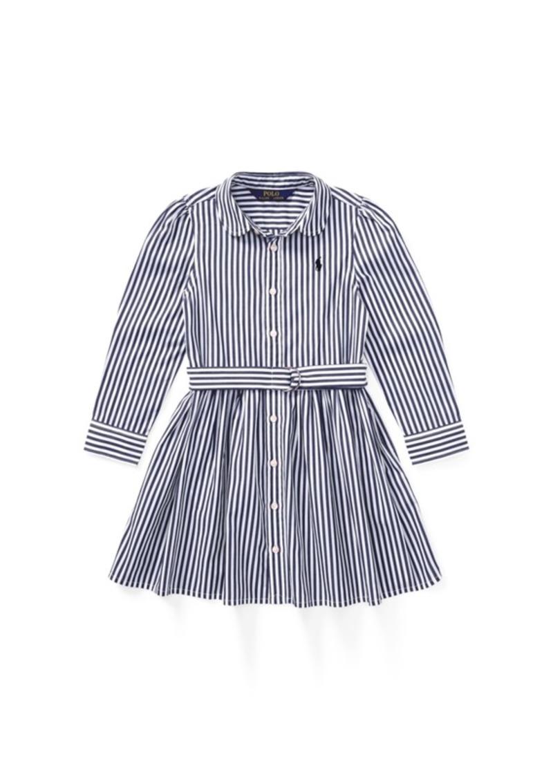 9917e7828 Ralph Lauren  Polo Polo Ralph Lauren Little Girls Striped Cotton Shirtdress