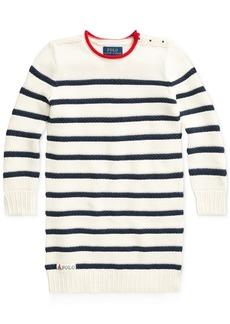 Ralph Lauren: Polo Polo Ralph Lauren Toddler Girls Striped Cotton Sweater Dress