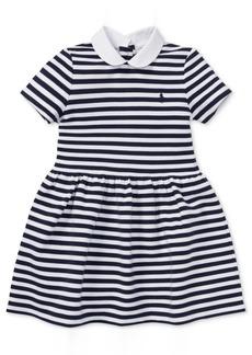 Ralph Lauren: Polo Polo Ralph Lauren Little Girls Striped Fit & Flare Dress