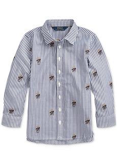 Ralph Lauren: Polo Polo Ralph Lauren Little Girls Sweater Bear Cotton Shirt