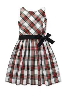 Ralph Lauren: Polo Polo Ralph Lauren Little Girls Tartan Fit & Flare Dress