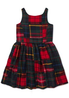 Ralph Lauren: Polo Polo Ralph Lauren Toddler Girls Tartan Patchwork Cotton Dress
