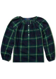 Ralph Lauren: Polo Polo Ralph Lauren Toddler Girls Tartan Plaid Cotton Top