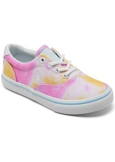 Ralph Lauren: Polo Polo Ralph Lauren Little Girls Tie-dye Thornton Casual Sneakers from Finish Line