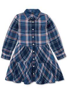 Ralph Lauren: Polo Polo Ralph Lauren Toddler Girls Western Plaid Cotton Shirtdress