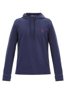 Ralph Lauren Polo Polo Ralph Lauren Logo-embroidered cotton-piqué hooded sweatshirt