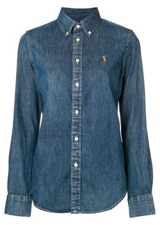 Ralph Lauren logo embroidered denim shirt